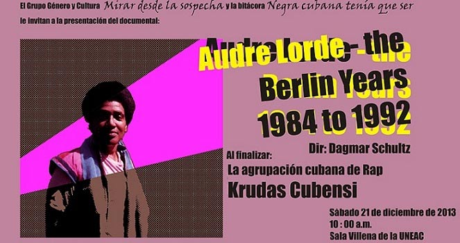 Audre Lorde. The Berlin Years